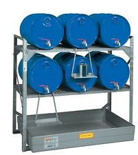 Cemo Fassregal für 6x60l Fäßer oder Kleingebinde Auffangwanne Ölauffangwanne
