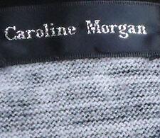 CAROLINE MORGAN S/sGreyStripedAcrylicBlendMini EUC