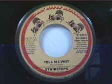 """STAIRSTEPS """"TELL ME WHY / LONG VERSION"""" 45 MINT PROMO"""