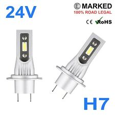 2 x 24v LED H7 Headlight Hella Spot 320FF HGV Truck Xenon White