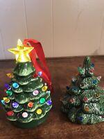 "Vintage Ceramic Christmas Lighted Trees Small 5"""