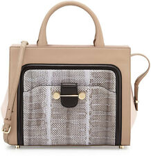 New! Retail $2,995 JASON WU Daphne Watersnake & Leather Crossbody Tote Bag Birch