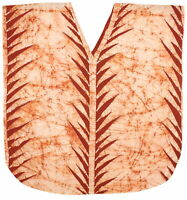 LA LEELA Batik Caftans for Women Long Kaftan Sleepwear Orange_G777 Plus Size