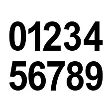 6cm schwarz Wunsch Wahl Aufkleber Tattoo Ziffer Zahl Nummer Haus Tür Spind Auto