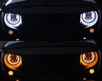 7 Inch Round LED Headlights Halo Angle Eyes for Jeep 97-2017 Wrangler JK LJ TJ