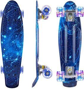 """NEW  22""""Complete Skate Boards Skateboard for Beginners Teens Girls Boys w/ LED"""