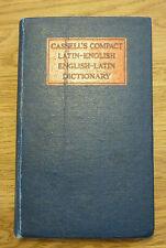 Cassell's Compact Latin-English English-Latin Compact Dictgionary 1948 - W