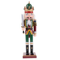 30cm Wood Nutcracker Soldier Figure Puppet Doll Toy Home Decor Ornament Gift