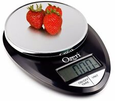 Ozeri Pro Digital Kitchen Scale Black Timer 1 G To 12 LBS Metal Cook Cooking Fun