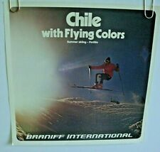 """BRANIFF AIRLINES INTERNATIONAL POSTER """"Chile Flying Colors"""" ORIGINAL 1970-80's"""