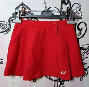 Womens Size 2-4 Vintage Yonex Japanese Red Pleated Chiffon Mini Sports Skirt