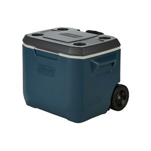 Coleman 50-Quart Xtreme 5-Day Heavy-Duty Hard-Sided Thermocooler Wheels, Slate