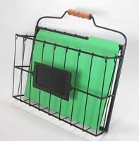Rustic Style Metal Wire Basket Wall Pocket Organizer Standard File Holder