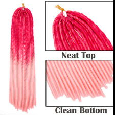 """2 Packs Set Crochet Hair 24"""" Havana Faux Locs Twist Braids Dreadlocks for Women"""