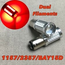 Brake Stop Light 1157 2057 3496 7528 33 SMD BAY15D Red LED Bulb W1 For A V W E