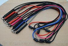 Paracord Neck Lanyard/ Keyring for ID/ Keys, Map & Compass (Choose Colours) T
