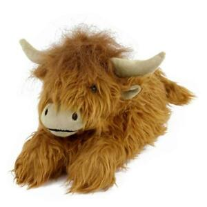 Highland Cattle Slippers - Brown Scotland Cow Slippers - for Men & Women