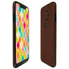 Skinomi TechSkin - Dark Wood Skin & Screen Protector for Motorola Moto G7 Play