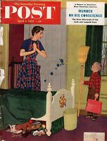 1955 Saturday Evening Post April 2 - Judy Garland; Loeb - Leopold Murder Case
