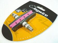 gobike88 JAGWIRE Sticky Brake Shoes for MTB V & C Brake, Pink, 605
