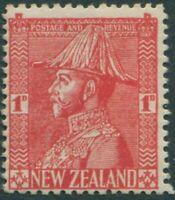 New Zealand 1926 SG471 1d rose-carmine KGV as Field-Marshall thin paper MNH