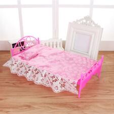 Kunststoff Bett Kissen Für Barbie Puppe Puppenhaus Schlafzimmer Möbel Toy GUT