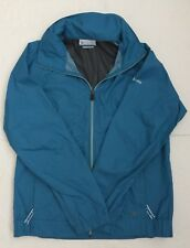 Youth Columbia Omni-Shield Windbreaker, Packable Jacket, Teal, Size M