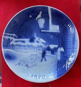 Old Copenhagen Blue Christmas Plate, Desiree, 1970, Hans Christian Anderson Home