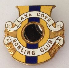 Lane Cove Bowling Club Badge Rare Vintage (K3)