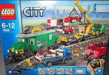 LEGO City 7898 Großes Güterzug Set Eisenbahn Licht + Sound RAR - incl. OVP + BA