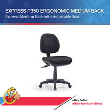 P350 Office Chair Ergonomic Medium Back Task Computer Chairs AFRDI Black Fabric