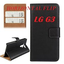 Custodia Cover Horizontal Flip Case Nero + Supporto per LG G3