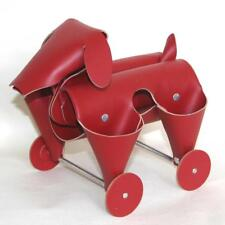 Red Leather Amigos Dog Desk Tidy by VacaValiente