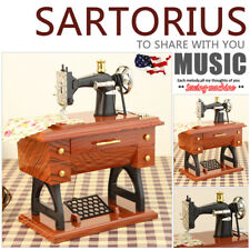 Vintage Music Box Sewing Machine Fashion Style Mechanical Best Gift Decoration