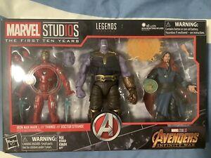 Marvel Legends First 10 Year Infinity War Iron Man Thanos Dr Strange Figures New