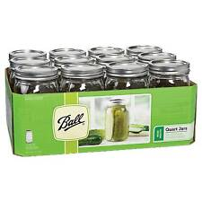 Ball 67000 Canning 32oz. Wide Mouth Jars - Set of 12