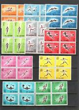 (G114)  San Marino 1963 OLYMPICS  MNH SET IN BLOCKS OF 4