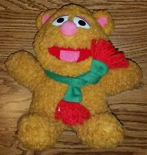 Vintage 1987 Fozzie Fozzy Teddy Bear Muppet Plush Stuffed Animal/Christmas Scarf
