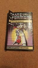 Transformers Gen 1 MEGATRON INSTRUCTION BOOKLET