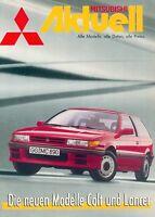 Mitsubishi Aktuell Prospekt 1988 9/88 deutsch Pajero Galant Magazin brochure