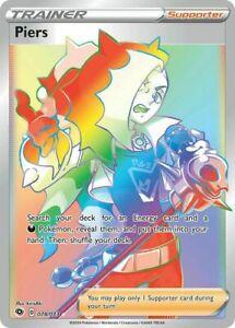 Pokemon TCG - Champion's Path - Piers - Rainbow Secret - x1 NM (078/073)