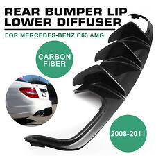 CE For 08-11 Mercedes-Benz C63 AMG Big Fin Style Carbon Fiber Rear Bumper Good