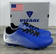 Vizari Unisex Stealth FG Football Cleats Blue Youth Size 3 93357 FAST SHIPPING