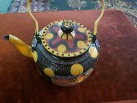 Unique Vintage metal teapot