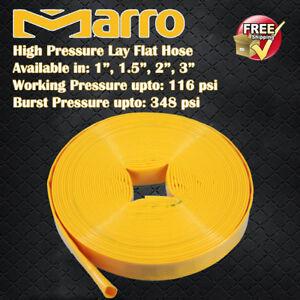 "Marro 30M Premium High Pressure Lay Flat Water Hose in 4 sizes: 1"", 1.5"", 2"", 3"""