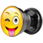 SpinPop Universal Horizontal and Vertical Phone Grip & Stand - Wink Tongue Emoji