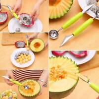Cute Cream Kitchen Stainless Steel Spoon Double-End Fruit Melon Cutter Baller
