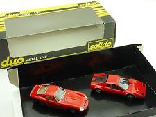 Solido Duo Ferrari 250 GTO Ferrari 512 BB Rot 1:43 OVP 1602-27-60