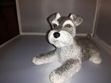 Gold Imprinted Lenox Limited Edition 2008 life like salt and pepper Schnauzer.