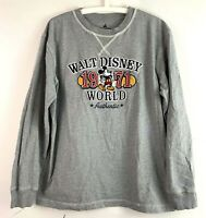 Walt Disney World 1971 Authentic Mens Large Crew Neck Gray Long Sleeve T Shirt